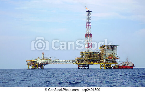 Offshore oil platform - csp2491590