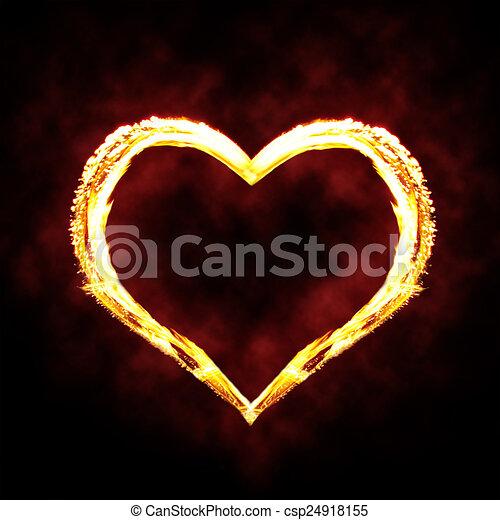 Fire heart  - csp24918155