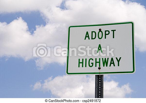 Adopt a Highway - csp2491872