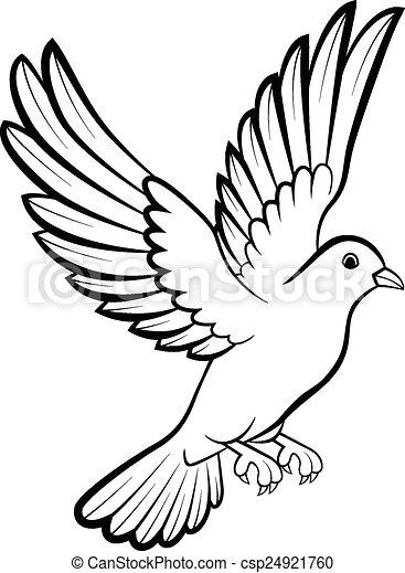 clip art vecteur de c paix dessin anim logo colombe oiseaux vecteur csp24921760. Black Bedroom Furniture Sets. Home Design Ideas