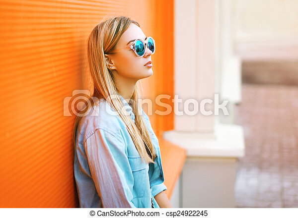 Summer, fashion and people concept - lifestyle portrait stylish