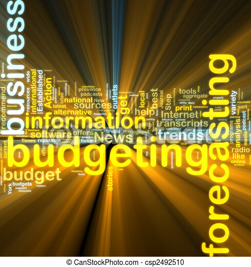 Budgeting wordcloud glowing - csp2492510