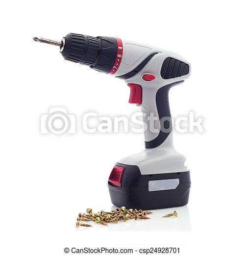 Cordless Drill with Screwdriver Bit - csp24928701