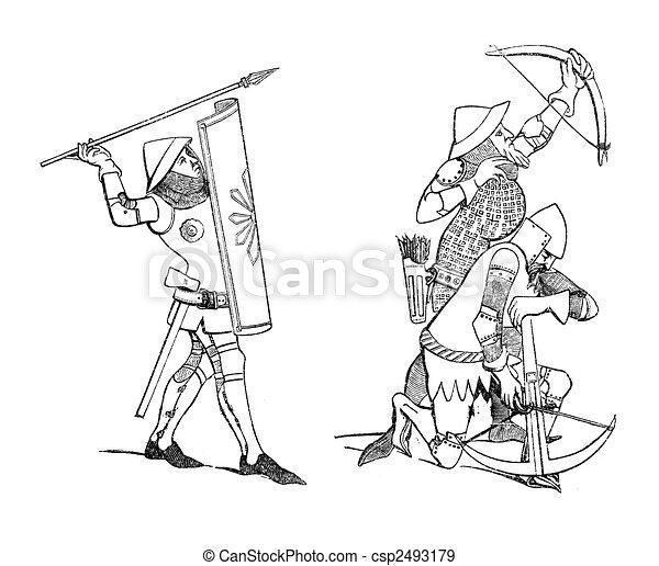军人题材  手绘插画