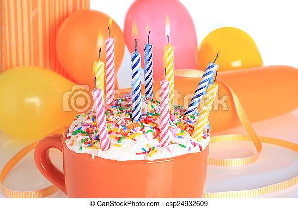 蜡燭, 生日 - csp24932609