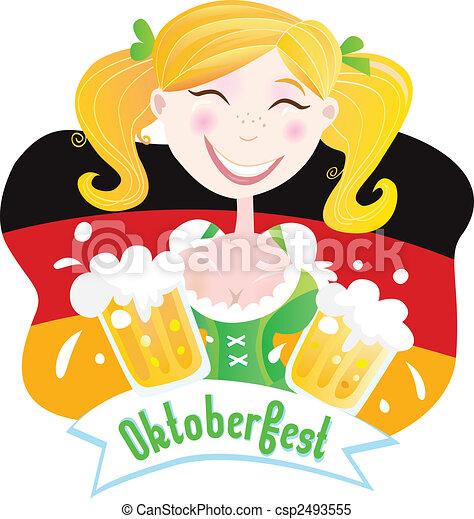 Oktoberfest (Bavarian female) - csp2493555