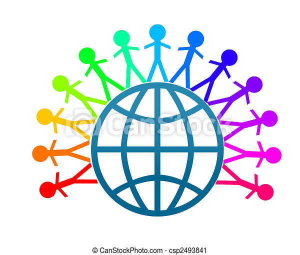 Colorfull world peace clip art - csp2493841