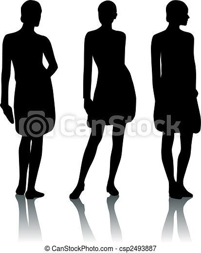 Silhouette woman - csp2493887