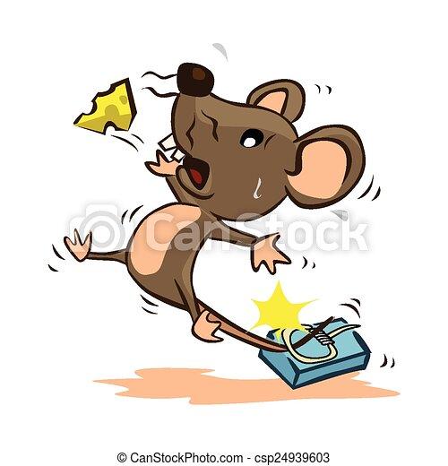Vector clip art de rat n trampa csp24939603 buscar clipart ilustraci n dibujos y eps de - Trampas para ratones de campo ...