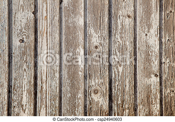 old planks with peeling white paint - csp24940603
