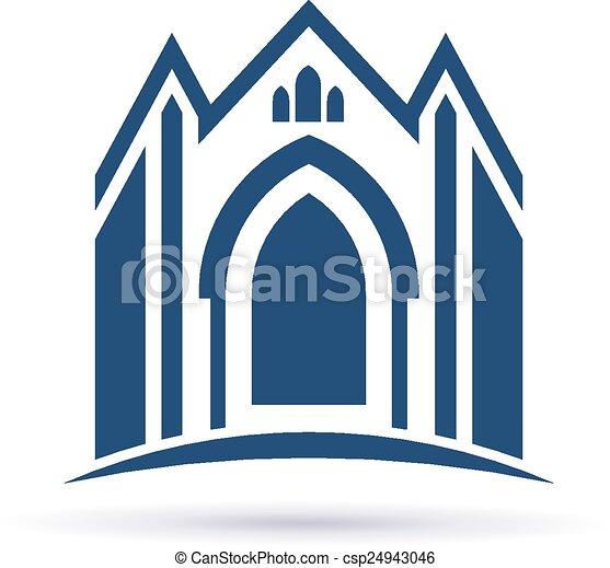 Church facade icon - csp24943046