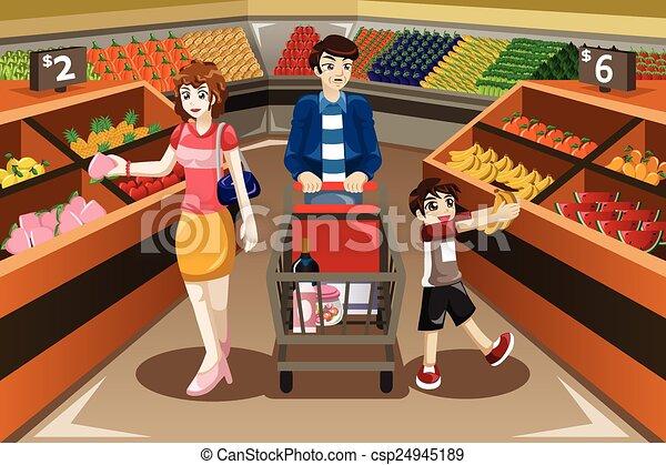 Resultado de imagen de compra  familia dibujo