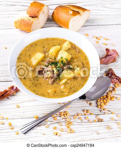 Images de pois soupe fum poulet herbes csp24947184 recherchez des photos des images des - Comment cuisiner poulet fume ...