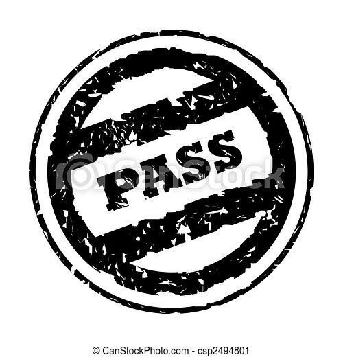 Used pass stamp - csp2494801