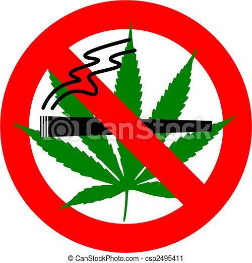 clipart de cannabis d fense de fumer no cannabis signe isol csp2495411 recherchez. Black Bedroom Furniture Sets. Home Design Ideas
