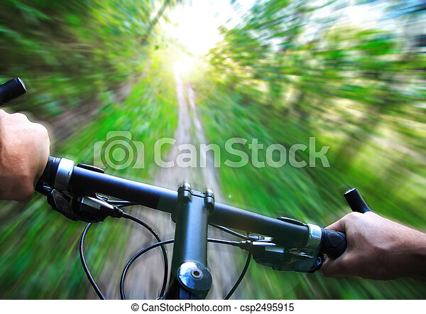 Speed on Mountain bike - csp2495915