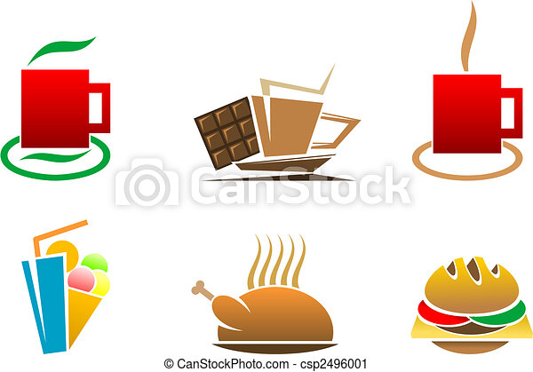 Fast food symbols - csp2496001
