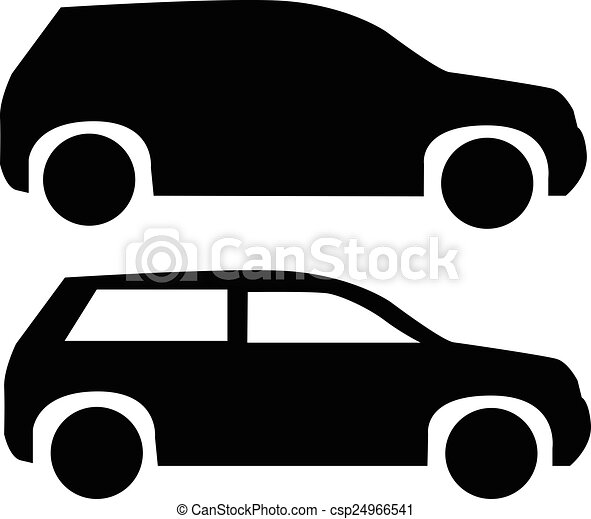Eps Vector Of Suv Car Icon Black Suv Car Icon Isolated On White