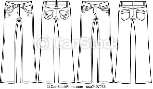 Ladies Jeans flare - csp2497238