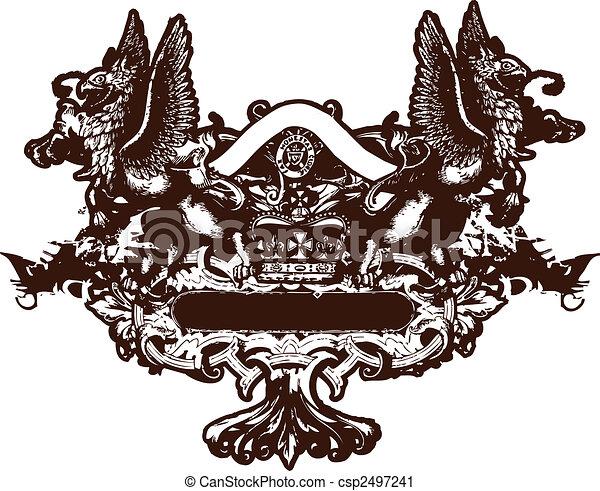 heraldic crest element - csp2497241