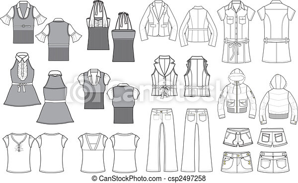 Fashion Item Outline - csp2497258