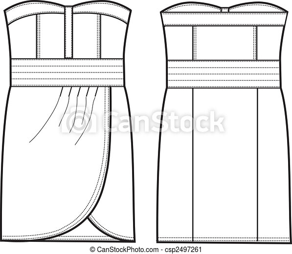 lady formal dress - csp2497261