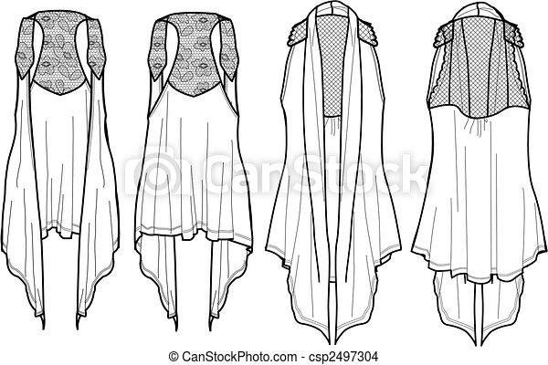lady fashion wrap vest - csp2497304