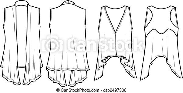 lady fashion wrap vest - csp2497306