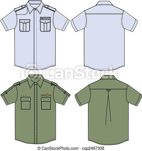 Mens Military Shirts - csp2497308