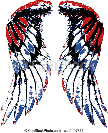 usa eagle wing portrait - csp2497311