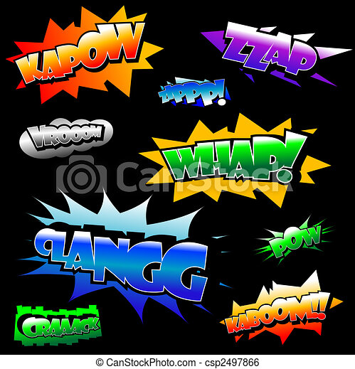 Vector comic text - csp2497866