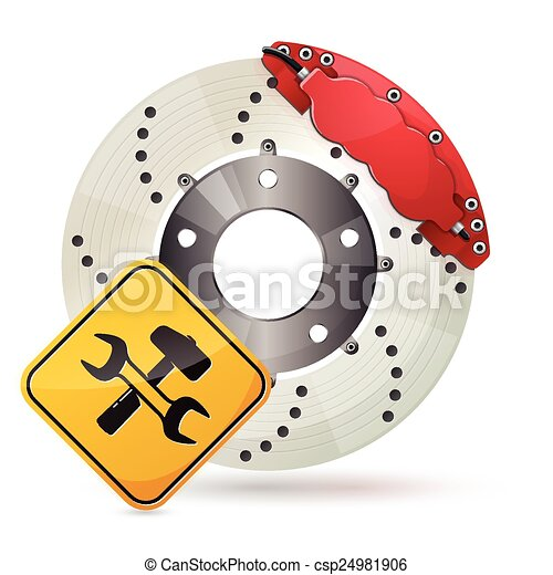 clipart vecteur de disque frein car frein disque service ic ne csp24981906 recherchez. Black Bedroom Furniture Sets. Home Design Ideas