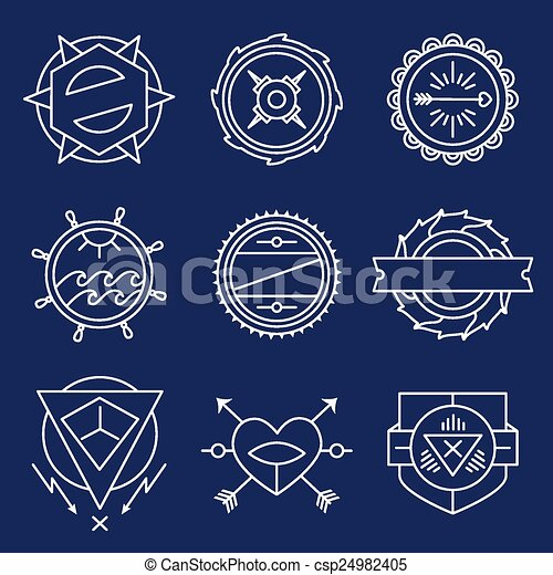 Vector Clipart of Set of simple and graceful monochrome monogram ...