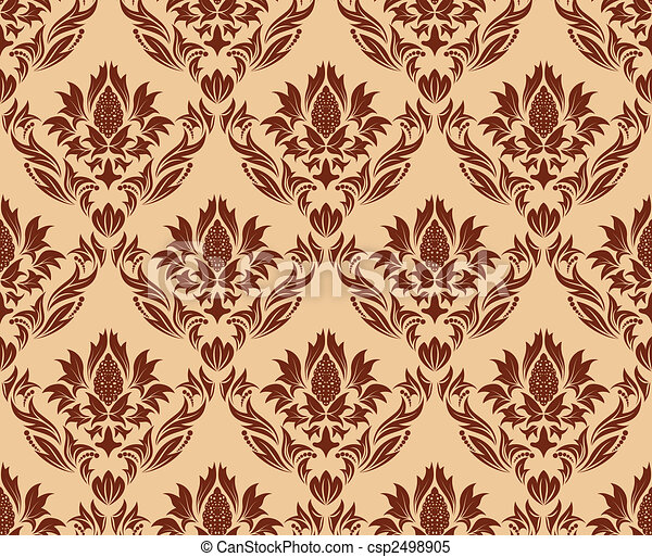 seamless damask pattern - csp2498905
