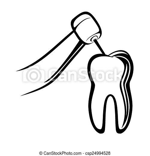 Vector Illustration of Dentist drill - Vector illustration ...