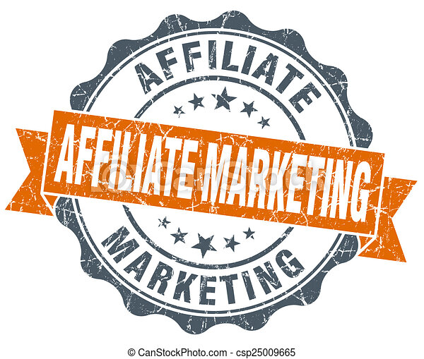 Stock Illustration of affiliate marketing orange vintage ...