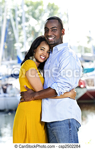 Happy couple hugging - csp2502284