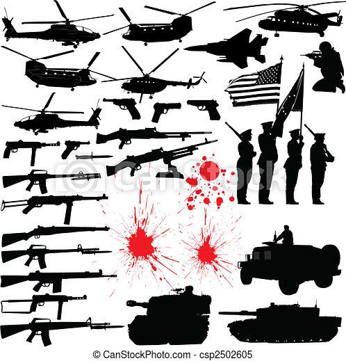 Military silhouettes - csp2502605