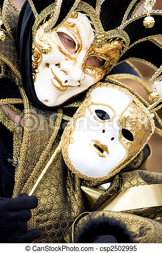A joker at the Venice Carnival - csp2502995