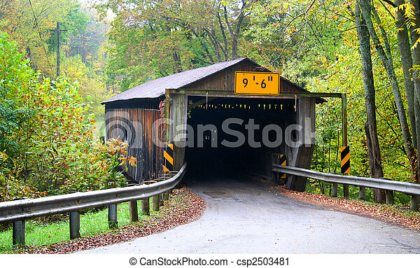 Historic Covered Bridge - csp2503481