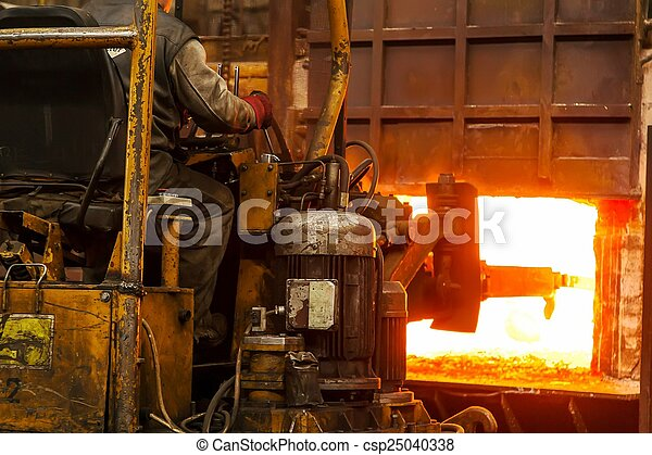 Hard work in a factory