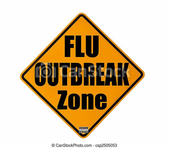 Flu outbreak warning - csp2505053