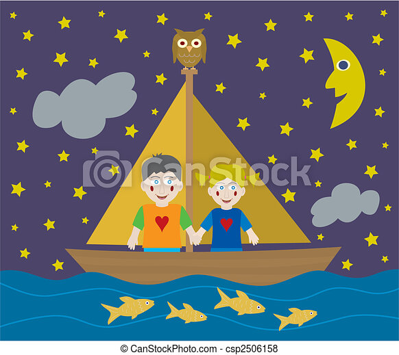 Kids sailing adventure - csp2506158