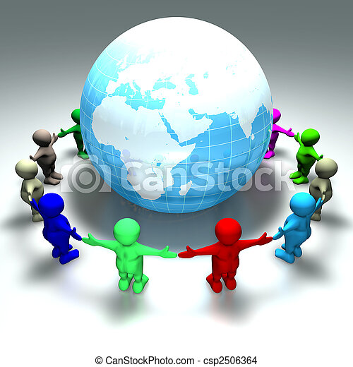 ring of kids around the world - csp2506364