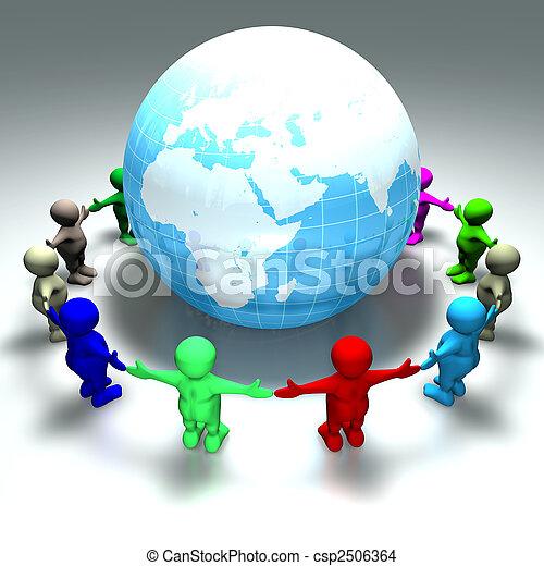 ring of kids around the world - csp2506364