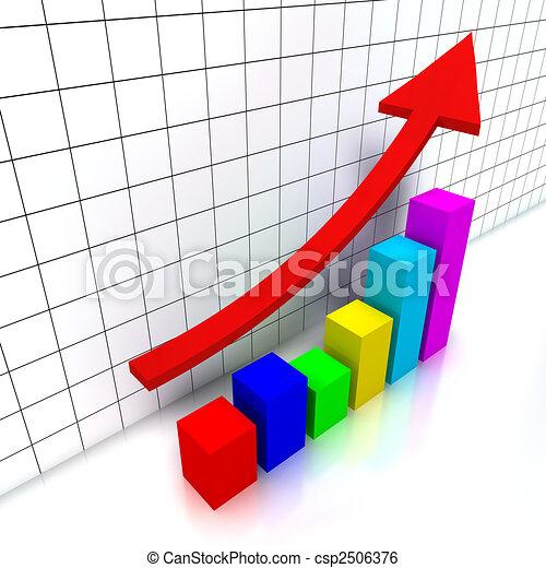Financial chart - csp2506376