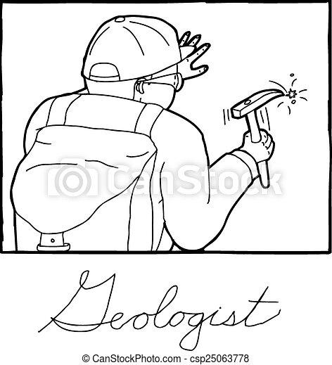 アウトライン, フレーム, 地質学者 - csp25063778 アウトライン, 漫画, 地質学