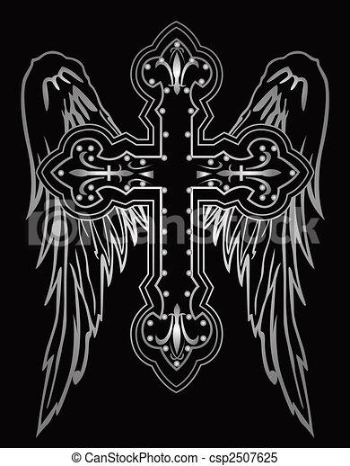 shiny religious cross - csp2507625