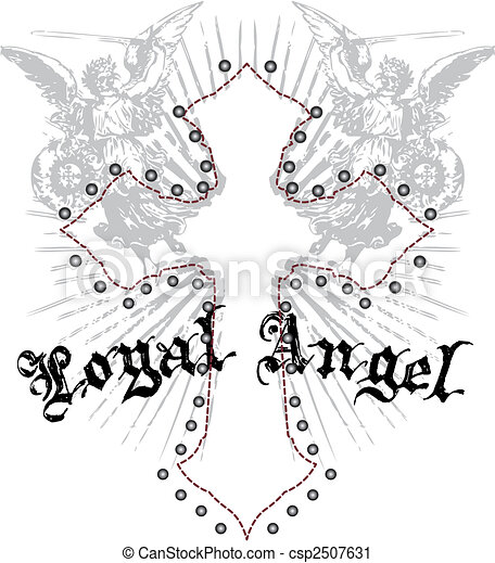 royal angel with cross emblem - csp2507631
