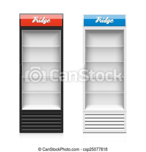 Glass Doors Clipart vector clip art of upright glass door display fridge illustration